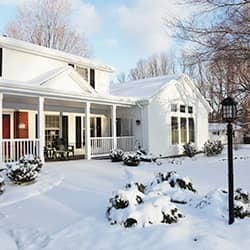 terre haute home during the winter